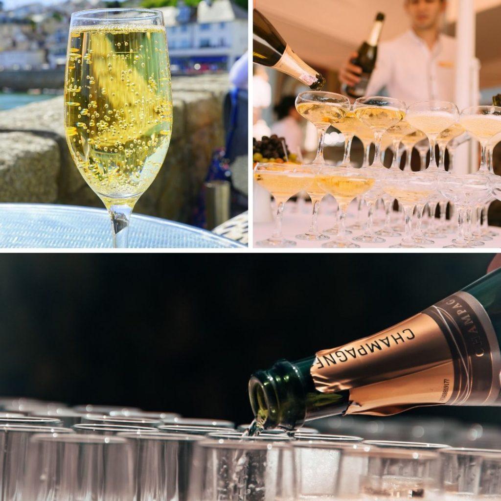 Boire une bonne coupe de champagne
