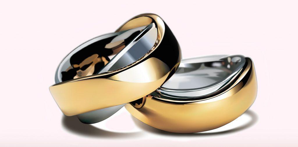 Bijoux : argent et or associés