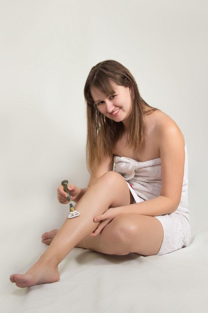 femme rasage